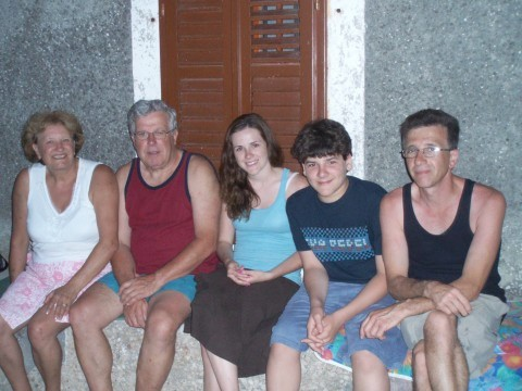 With family in Croatia.