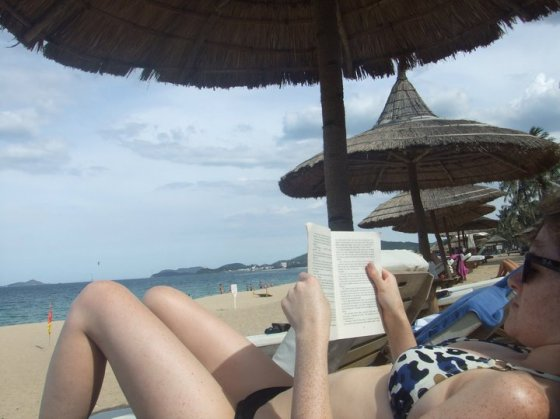 Reading and Relaxing in Nha Trang.