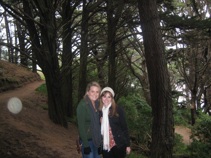 Me and my cousin in New Zealand.