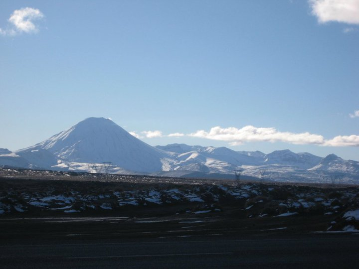 Mt. Ngauruhoe and Mt. Tongariro.