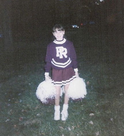 Cheerleading in middle school.