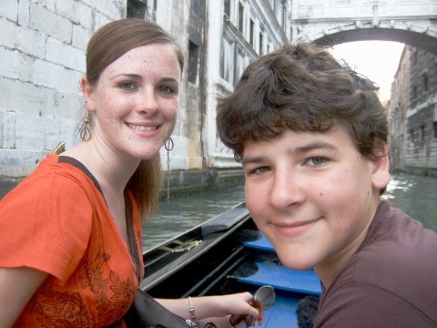 Gondola Ride in Venice.